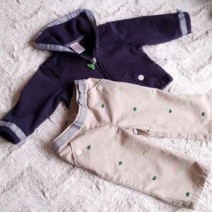 Gymboree Turtle Khaki Outfit Set  12-18 mos